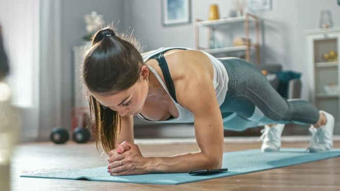 The plank is a great bodyweight exercise.