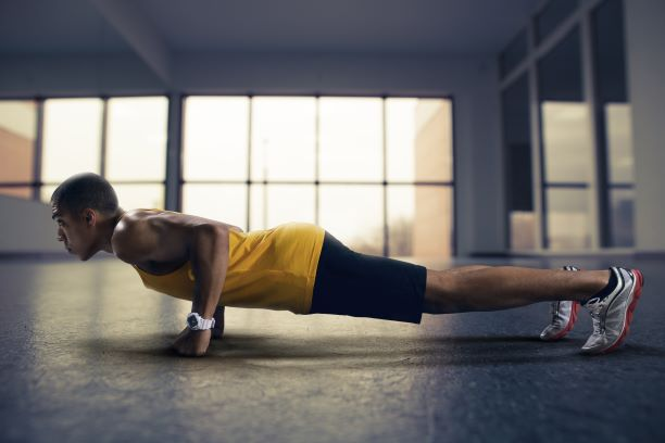 The push-up is a great bodyweight exercise.