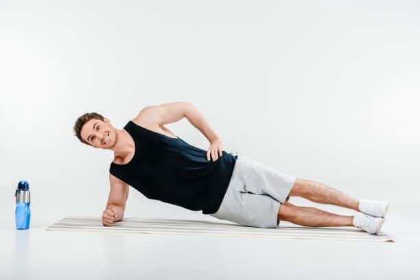 The side-plank is a great bodyweight exercise.