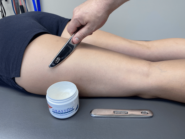graston technique treatment of a pulled hamstring